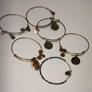 Various Alex and Ani Bangles.